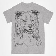 Classic T-shirt w/ Large Border Collie