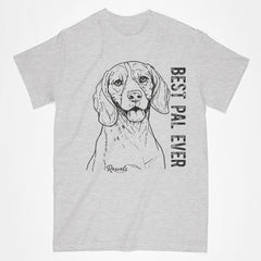 Classic Adult T-shirt from Rascals Sporting Dogs featuring black-ink illustration of Beagle with Best Pal Ever.