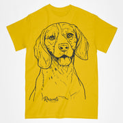 Beagle illustration on Adult T-shirt from Rascals Sporting Dogs