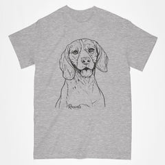 Beagle  illustration on classic Adult T-shirt from Rascals Sporting Dogs