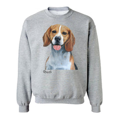 Beagle painting on Adult Crewneck sweatshirt by Rascals Sporting Dogs