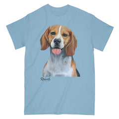 Beagle painting on Adult Classic T-shirt by Rascals Sporting Dogs
