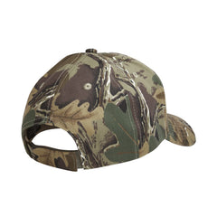 Camouflage mid profile baseball cap in 100% cotton twill featuring detailed embroidered Brittany by Rascals Sporting Dogs