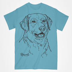 Classic Adult T-shirt from Rascals Sporting Dogs featuring large black-ink illustration of Chesapeake Bay.