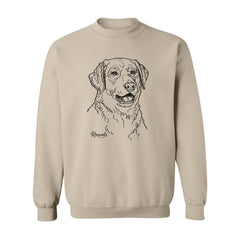 Adult Crewneck Sweatshirt from Rascals Sporting Dogs featuring black-ink illustration of Chesapeake Bay