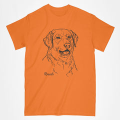 Classic Adult T-shirt from Rascals Sporting Dogs featuring black-ink illustration of Chesapeake Bay.