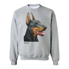 Doberman Pinscher painting on Adult Classic T-shirt by Rascals Sporting Dogs