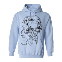 Hoodie w/ Large Golden Retriever
