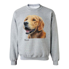 Golden Retriever painting on Adult Crewneck Sweatshirt by Rascals Sporting Dogs