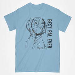 Classic Adult T-shirt from Rascals Sporting Dogs featuring black-ink illustration of German Shorthair Pointer with Best Pal Ever