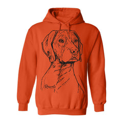 Hoodie w/ Large German Shorthair Pointer