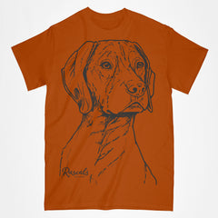 Classic T-shirt w/ Large German Shorthair Pointer