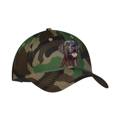 Chocolate Labrador Retriever embroidered on Camouflage Ball Cap by Rascals Sporting Dogs