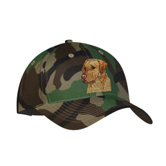 Yellow Labrador Retriever embroidered on Camouflage Ball Cap by Rascals Sporting Dogs