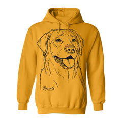 Labrador Retriever illustration on Adult Hoodie from Rascals Sporting Dogs