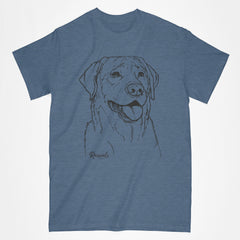 Personalized Labrador T-shirt w/ Dog's Name