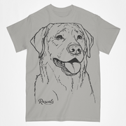 Labrador Retriever illustration on classic Adult T-shirt from Rascals Sporting Dogs