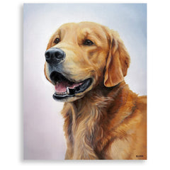 "Golden Retriever Painting, 12x16"" hand mounted reproduction of artist Zann Hemphill's original oil paintings on Museum-Grade Archival Canvas from Rascals Sporting Dogs"