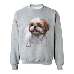 Shih Tzu painting on Adult Crewneck sweatshirt by Rascals Sporting Dogs