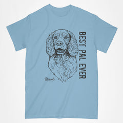 Classic Adult T-shirt from Rascals Sporting Dogs featuring black-ink illustration of Springer Spaniel with Best Pal Ever