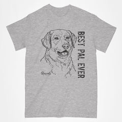 Classic Adult T-shirt from Rascals Sporting Dogs featuring black-ink illustration of Chesapeake Bay with Best Pal Ever
