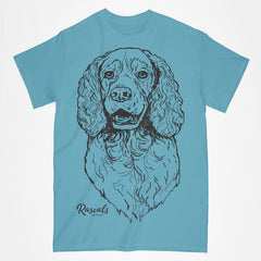 Springer Spaniel illustration on Adult T-shirt from Rascals Sporting Dogs