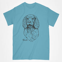 Springer Spaniel illustration on classic Adult T-shirt from Rascals Sporting Dogs