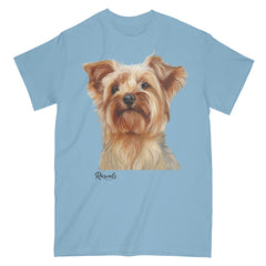 Yorkshire Terrier painting on Adult Classic T-shirt by Rascals Sporting Dogs