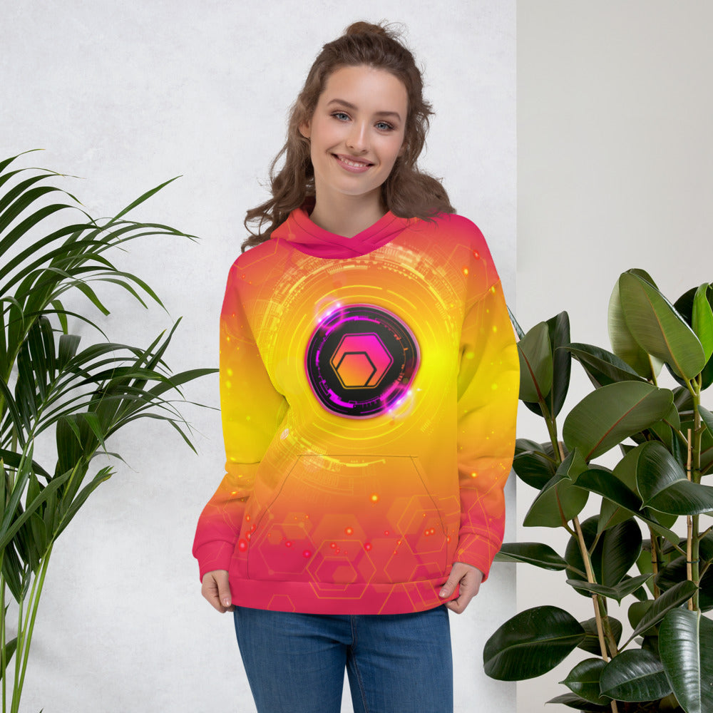 Hex All Over Print Women's Hoodie