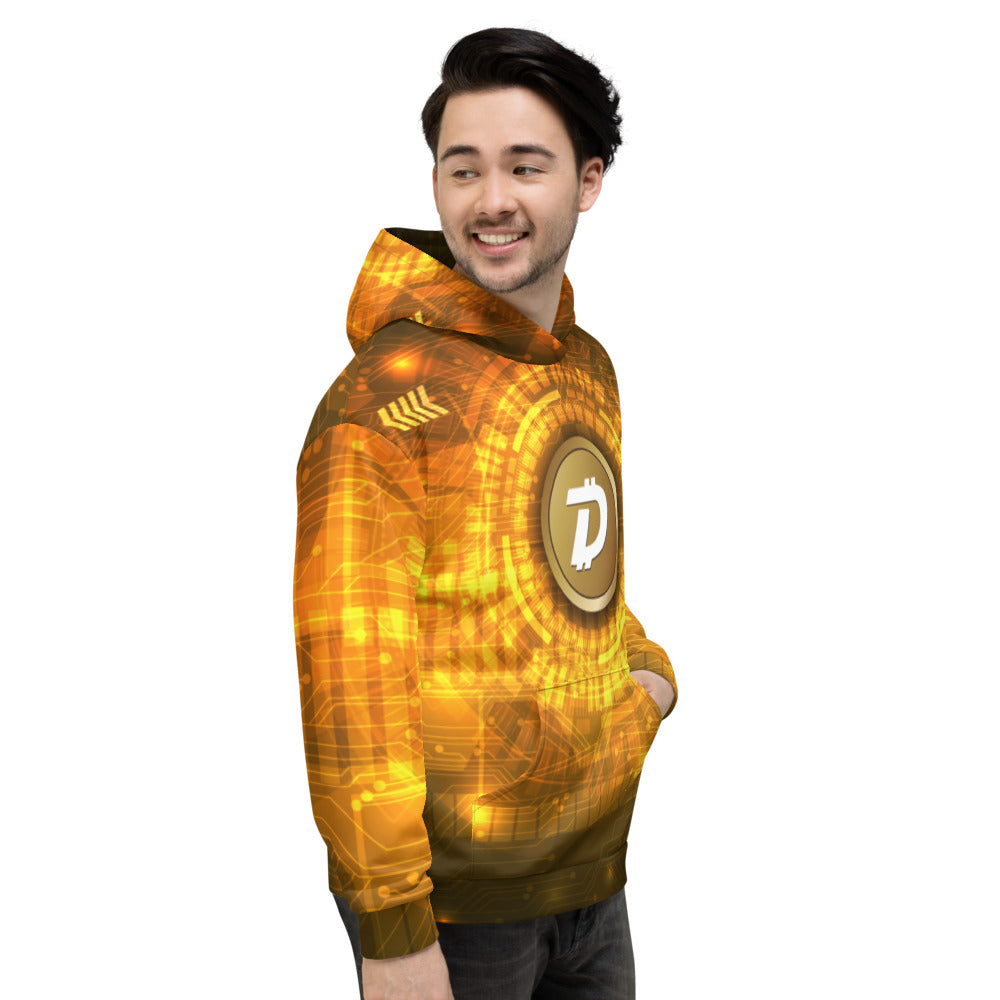 DigiByte AOP Gold Hoodie