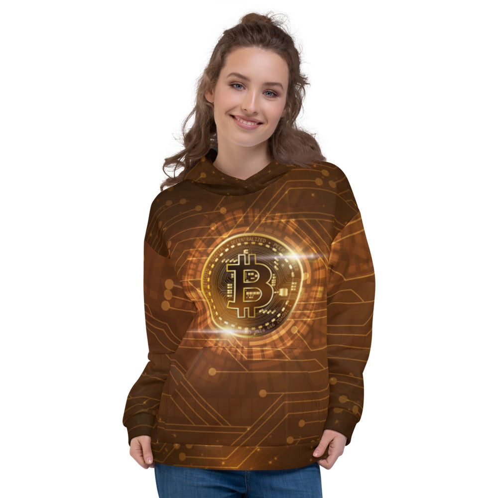 Bitcoin All Over Print Women's Hoodie