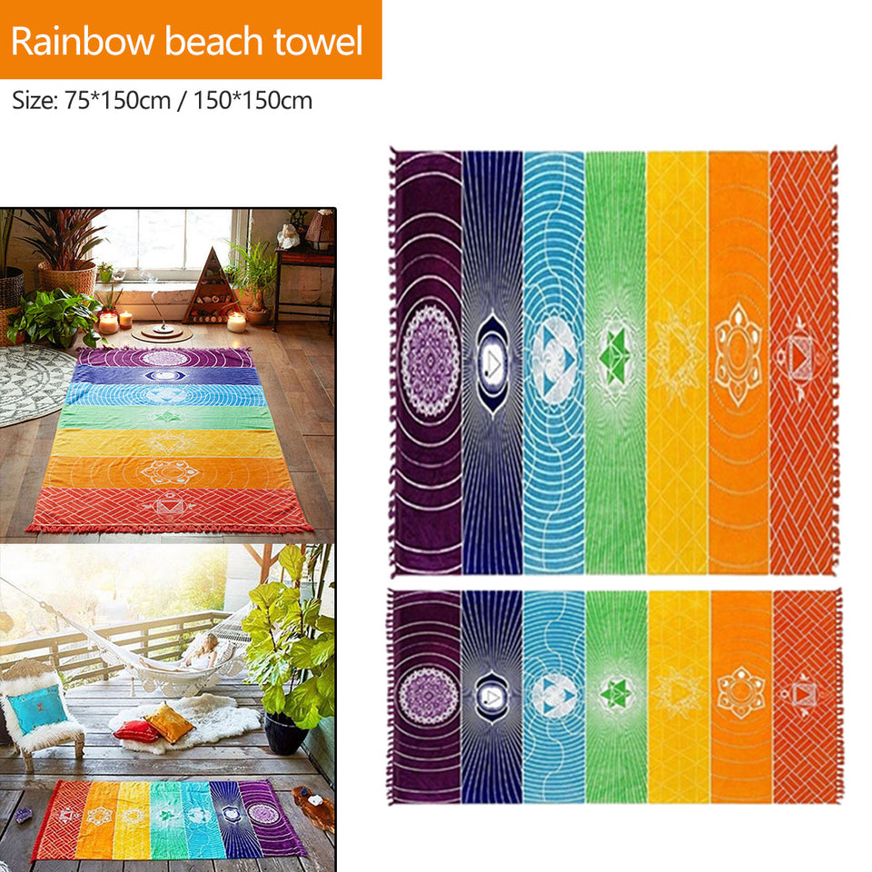 Rainbow Chakra Yoga Mat-1 Royal Living