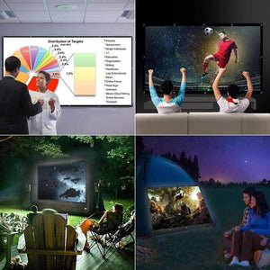 100/120 Inches 16:9 Projector Screen Polyester Portable Foldable Non-crease Home Design Projection Screen-1 Royal Living