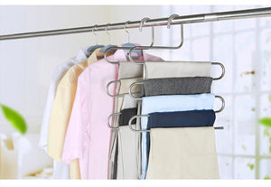 5 layers S Shape MultiFunctional Clothes Hangers Pants Cloth Rack Multilayer Storage Cloth Hanger-1 Royal Living