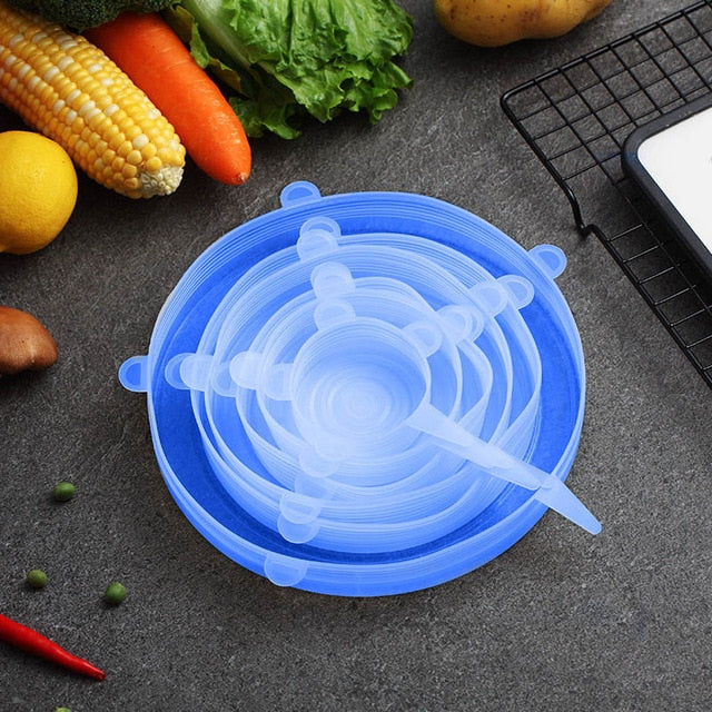 6 Pcs/Set Silicone Food Lids-1 Royal Living