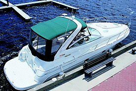 DORAL BOAT INTRIGUE CRUISER FULL SUNBRELLA TOP AND CURTAIN 2003 : 2012