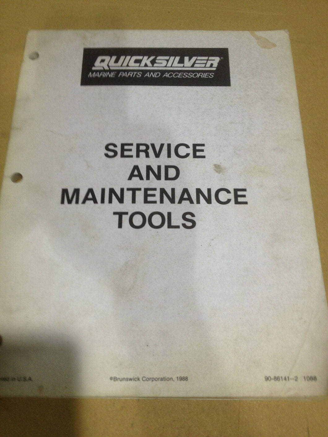 Quicksilver Marine parts and Accessories service and maintenance tools manual 88