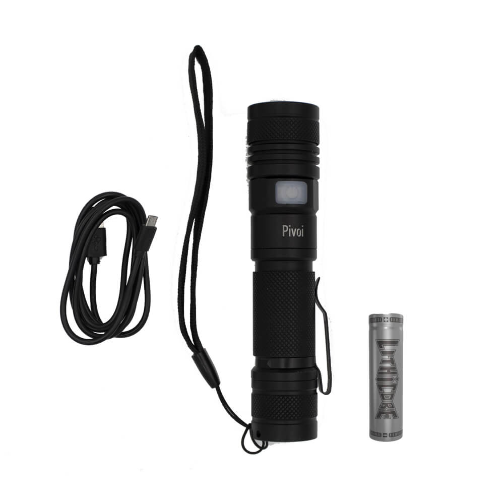 Lithicore IMR 18650 Battery with 10W LED Water Resistant Flashlight