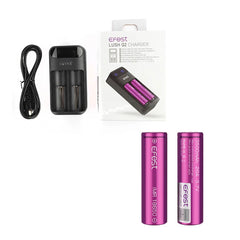Efest LUSH Q2 Charger with 2 x 18650 (3500mAh) Battery