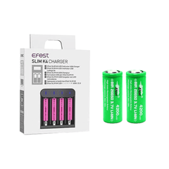 Efest SLIM K4 USB Charger with 2 x 26650 (4200mAh) Battery