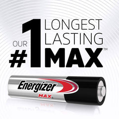 Energizer AAA Batteries (24 Count), Triple A Max Alkaline Rechargeable Batteries