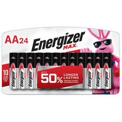 Energizer AA Batteries (24 Count), Double A Max Alkaline Rechargeable Batteries