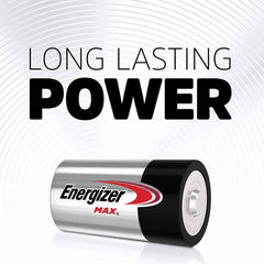 Energizer Max D Batteries, Premium Alkaline D Cell Batteries (4 Battery Count