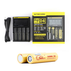 Nitecore D4 Digicharger with 2 x 18650 (2500mAh) Battery