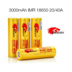 Imren IMR 18650 3000mAh 40A 3.7v Rechargeable Batteries Flat Top - Pack of 2