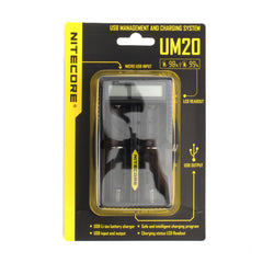 Nitecore UM20 2-slot Digital USB Charger, for 18650 battery etc
