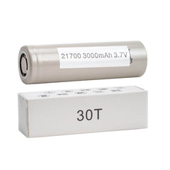 Samsung 30T INR 21700 3000mAh 35A 3.7v Battery Flat-Top - 2 Pack