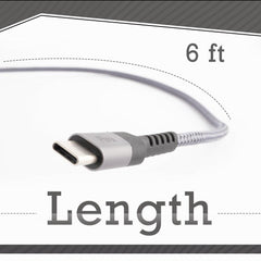 Pivoi USB 2.0 AM to Type C Fast Charging Cable 6.6 Feet Long Compatible with Macbook, Pixel, Chromebook , Samsung Galaxy, 1-Pack (Gray)