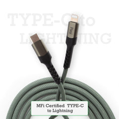 Pivoi MFI Certified Type-C to Lightning Cable 1M Green
