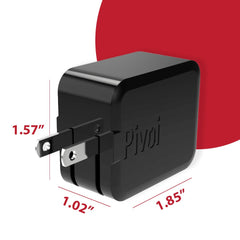 Pivoi Dual USB Wall Charger Black